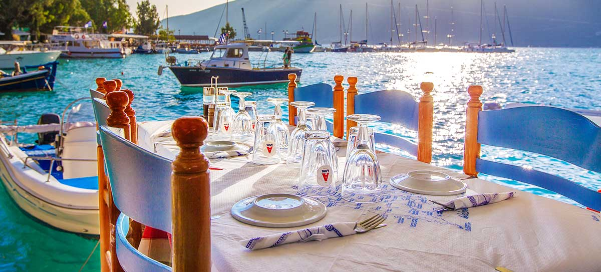 vasiliki harbor. a restaurant with seafood near me