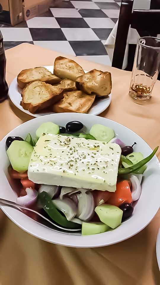 best greek salad near me. Feta and family. What to eat. Here is the answer.