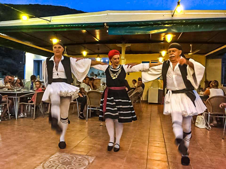 Zorba The Greek Dance. Opa. Sirtaki. Greek night at Zorba. Restaurant for the locals.
